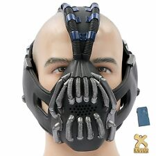 Bane Mask Cosplay Adult Costume for Halloween Party Newest Gun with Voice change