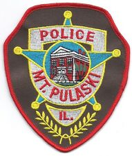 **MOUNT PULASKI ILLINOIS POLICE PATCH**