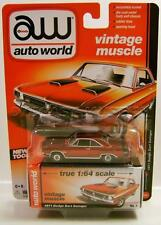 1971 '71 DODGE DART SWINGER ULTRA RED CHASE CAR AUTO WORLD DIECAST 2016 RARE!!