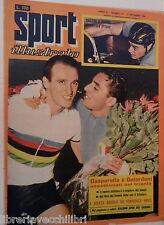 SPORT ILLUSTRATO N 37 11 settembre 1958 Gasparella e Gaiardoni Roger Riviere e