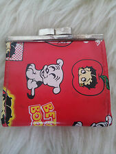 Very Rare Vintage Super Cute 1980's Mini Red Betty Boop Metal Clasp Purse