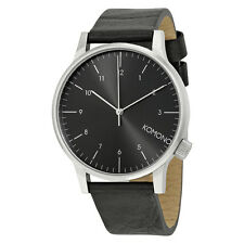 Komono Winston Regal Black Dial Black Leather Mens Watch KOM-W2255