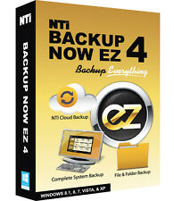 NTI Backup Now EZ 4, Backup & Recovery for Windows 10, 8.1, 8, 7, Vista, or XP