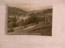 Vecchia foto cartolina d epoca di Borgo Val di Tarso Parma scorcio panoramico di