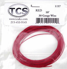 "Wire 30awg 10 foot length Red, seven strand wire outside diameter 0.026""."