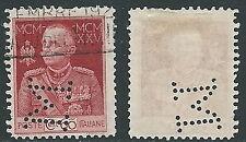 1925-26 REGNO USATO GIUBILEO 60 CENT D. 11 PERFIN - U14