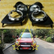 Clear Lens Fog Lights Driving Lamps+Covers Kits for Toyota RAV4 2009-2012