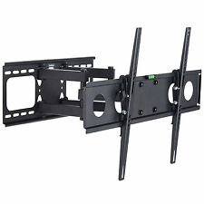 "VonHaus Double Arm Cantilever TV Wall Mount Bracket Swivel Tilt 32""-55"" LED LCD"