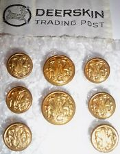 Deerskin Trading Post Brass Plated Blazer Button Set 2 Button Coat 8 Buttons