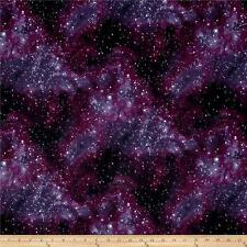 Tessuto Stelle Galassia cosmica SKY Fat Quarter Cotton Craft Quilting-Viola