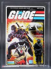 1985 Hasbro GI Joe Snake Eyes with Timber AFA 80 + Plus C80 B85 F85 MOC