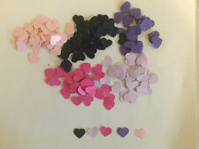 Embellishments Small Card Hearts 8mmx8mm Qty 250 (50x 5 Colours) Reversable