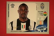 PANINI CHAMPIONS LEAGUE 2012/13 N. 347 ASAMOAH JUVENTUS BLACK BACK MINT!