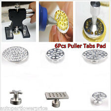 Aluminum Puller Tabs Pad Body Dent Paintless Repair Hail Removal Tool PDR Glue×6