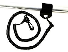 Coiled Paddle Leash or Fishing Pole Leash for Kayaks or Canoes. Solid Rubber