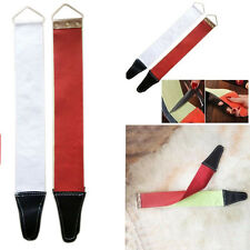 Pro Canvas Leather Sharpening Strop Barber Open Straight Razor Sharpening Shave