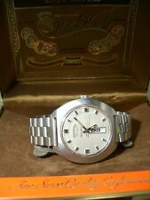 "VINTAGE Lucien Piccard Dufonte Day Date Automatico Watch-circa 1965 ""Incl. BOX"
