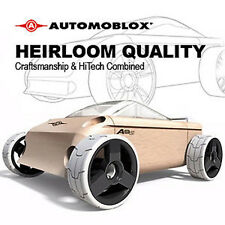 NEW IN BOX AUTOMOBLOX A9S White Convertible Car wooden puzzle