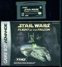 Nintendo Game Boy Advance STAR WARS FLIGHT OF THE FALCON Tested Saves Booklet