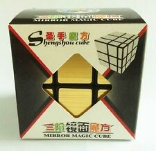 MAGIC MIRROR GOLD CUBE 3 X 3 SIX SIDED PUZZLE IN BOX SHENGSHOU TWIST NOVELTY
