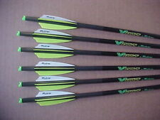 "PSE CROSSBOW BOLTS BY VICTORY FUSION VANE 1/2 DOZ H/MOON 20"" FREE POINTS !"
