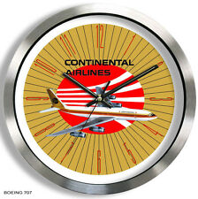 CONTINENTAL AIRLINES BOEING 707 WALL CLOCK METAL 1960's 1970's