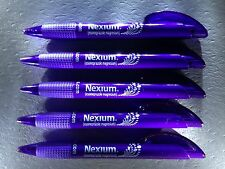 5 Nexium Drug Rep Advertising Pens ~ Soft Dimpled Rubber Grippers!!