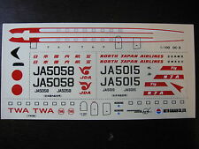 1/100 DECALS McDONNELL DOUGLAS DC 3 NDA & JDA JAPAN AIRLINES TWA DECALCOMANIES