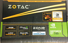 Zotac -Zone Edition NVIDIA GeForce GT 730 2GB DDR3 PCI Express Graphics Card New