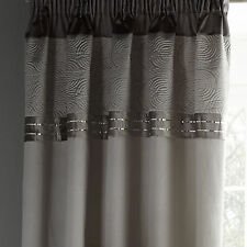 "Catherine Lansfield Gatsby Silver Pencil Pleat Curtains 66""x72"""