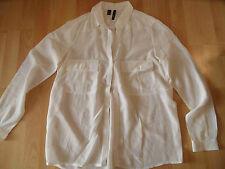 MANGO Suit schöne Seidenbluse creme Gr. M NEUw.  BSu516