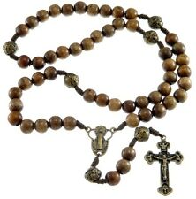 Wooden Our Father Rosary Beads with Madonna Junction - UK seller
