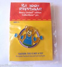 Limited 2008 BUILD A BEAR PIN Be 100% Pawsome With FITNESS NUTRITION New CARD