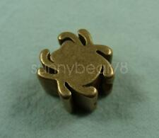 Solid Brass Spider shaped Lanyard bead Parachute Cord Knife Tool 5mm Hole Beads