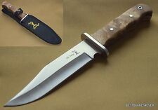 9.75 INCH OVERALL ELK RIDGE FIXED BLADE BOWIE HUNTING KNIFE WITH NYLON SHEATH