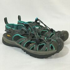 Keen Whisper Sport sandals Water Hiking Shoes Grey Blue Women's Approx Size 6.5