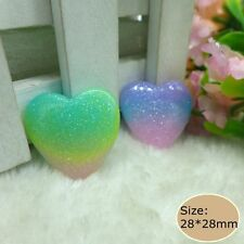 20pcs Kawaii Heart Flatback Resin Cabochon crafts for  diy decoration