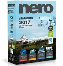 Nero 2017 Platinum 4K Ultra HD Multimedia Suite for Windows - Full Version ✔NEW✔