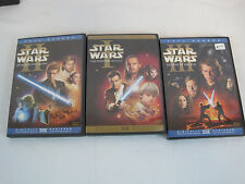 Star Wars Trilogy Episodes 1-3 Out of Print Copies Movies Full Wide (SA255)