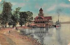 NY, New York  THE PIER ON THE POINT-Chautauqua Institution   Boat  1909 Postcard
