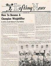 IronMan Lifting News How To Become A Champion Weightlifter Jan 1959 ,1-59