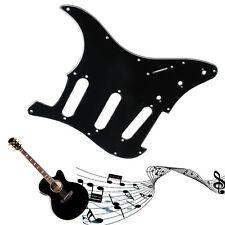 3 Ply Guitare électrique Pickguard Scratch plaque noire Pour Strat Stratocaster