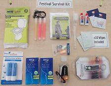 Festival Survival Kit, for Festivals, Camping, Hiking, Raves