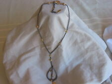 "WHITE HOUSE BLACK MARKET 16"" CHAIN NECKLACE GOLD & PEWTER TONES  VERY NICE"