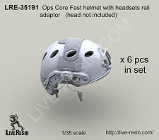 Live Resin 1/35 Ops Core Fast Helmet Set w/Headsets Rail Adaptor without Head