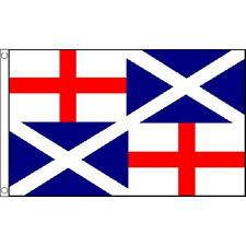 Naval Ensign 1659 Flag 5Ft X 3Ft England Scotland Banner With 2 Eyelets New