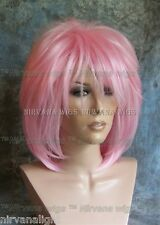 LARGE FIT..Pink Layered Womans Nirvana Tina Turner Drag? Wig