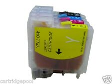 4 Refillable ink cartridge for Brother LC61 LC65 67  DCP-585CW DCP-J125 MFC-250C