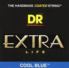9 - 42 DR COOL BLUE COATED EXTRA LONG LIFE ELECTRIC GUITAR STRINGS NEW