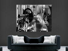 Fille sexy hot Gym Combat Poids Fitness mur Poster Art Photo Impression Grand